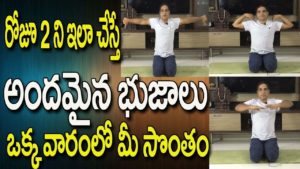 Yoga For Arm Fat Loss | Yoga Videos For Beginners In Telugu |  Yoga Videos | Yoga In Telugu