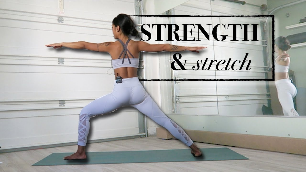 Yoga to get Strong and Stretchy at Home // intermediate+ beginner flow